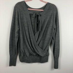 J CREW NWT Wrap Back Tie Up Merino Wool Sweater